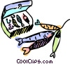 Vector Clip Art graphic  of a Fish
