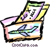 Vector Clip Art graphic  of a Tickets