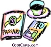 Vector Clipart graphic  of a Passports