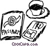 Passports Vector Clipart illustration
