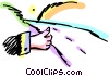 Walking and Hitchhiking Vector Clipart picture