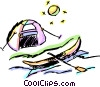 Vector Clipart picture  of a Tents