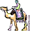Vector Clip Art picture  of a Camels