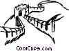 Vector Clip Art graphic  of a Great Wall of China