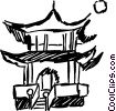 Temples Vector Clipart picture