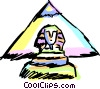 Egyptian Sculptures Vector Clipart picture
