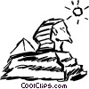Vector Clip Art image  of a Egyptian Sculptures