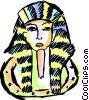 Vector Clip Art image  of a Tutankhamen
