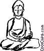 Vector Clip Art image  of a Buddha Statue