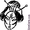 Geishas Vector Clipart illustration