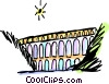 Vector Clipart graphic  of an Aqueducts