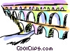 Vector Clip Art image  of an Aqueducts