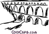 Vector Clipart picture  of an Aquaducts