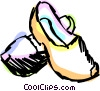Vector Clip Art picture  of a Wooden Shoes