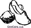 Wooden Shoes Vector Clip Art graphic