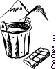 Vector Clip Art image  of a Buckets and Pails