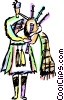 Bagpipers Vector Clipart illustration