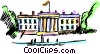 The White House Vector Clipart illustration