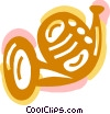 Vector Clipart image  of a French Horns