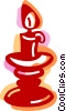 Vector Clip Art graphic  of a Candles
