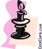 Vector Clipart picture  of a Candles