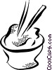 Vector Clipart image  of a o bowl of rice
