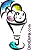 Vector Clipart graphic  of a ice cream sundae