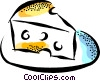 Vector Clip Art graphic  of a Swiss cheese