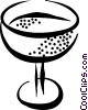Vector Clipart picture  of a glass of wine