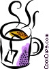 cup of tea Vector Clip Art graphic