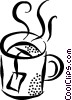 Vector Clipart image  of a cup of tea