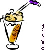 ice cream float Vector Clipart illustration
