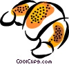 Vector Clip Art picture  of a croissant