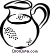 Vector Clipart image  of a water jug