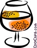 glass of brandy Vector Clipart illustration