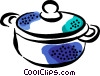 Vector Clipart illustration  of a pot