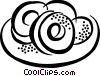 Vector Clipart graphic  of a donuts