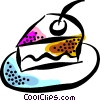 piece of cake Vector Clip Art graphic