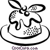 Vector Clipart graphic  of a pastry