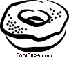 Vector Clip Art graphic  of a donut