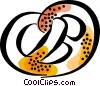 Vector Clipart image  of a pretzel