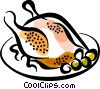 roasted chicken Vector Clipart picture