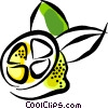 Sliced lemon Vector Clipart picture