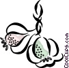 garlic cloves Vector Clipart picture