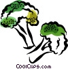 Vector Clipart picture  of a broccoli