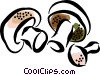 Vector Clipart graphic  of a mushrooms
