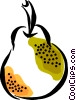Vector Clip Art picture  of a pear