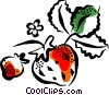 Vector Clipart graphic  of a strawberries