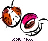 Vector Clip Art image  of a Peaches