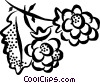 raspberries Vector Clipart image